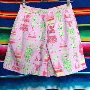 Lilly Pulitzer Bikini Swimsuit Print Shorts High R